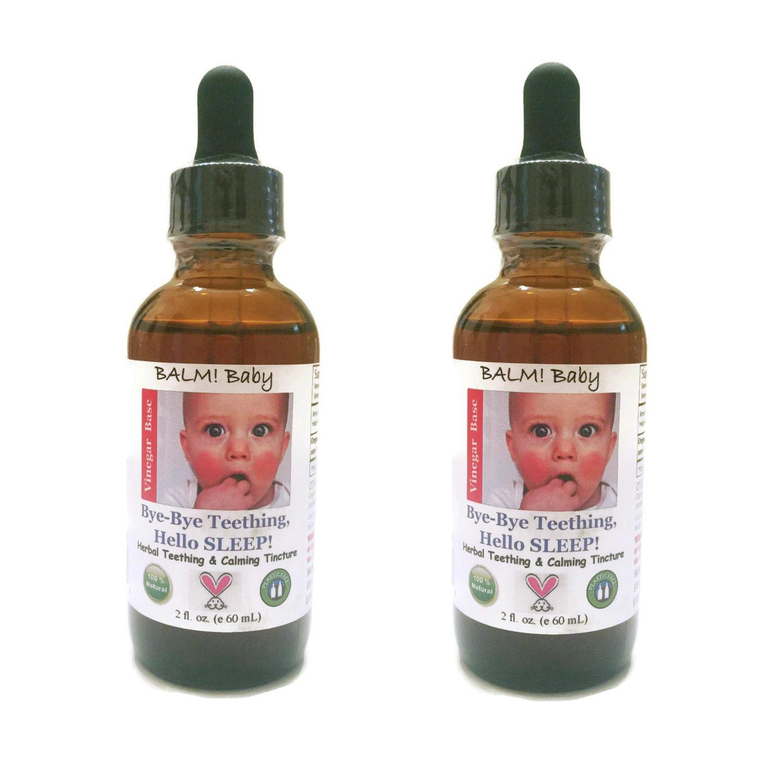 BALM! Baby Bye-Bye Teething Hello SLEEP! Natural Teething Tincture - 2oz (2 - Pack, Apple Cider Vinegar)