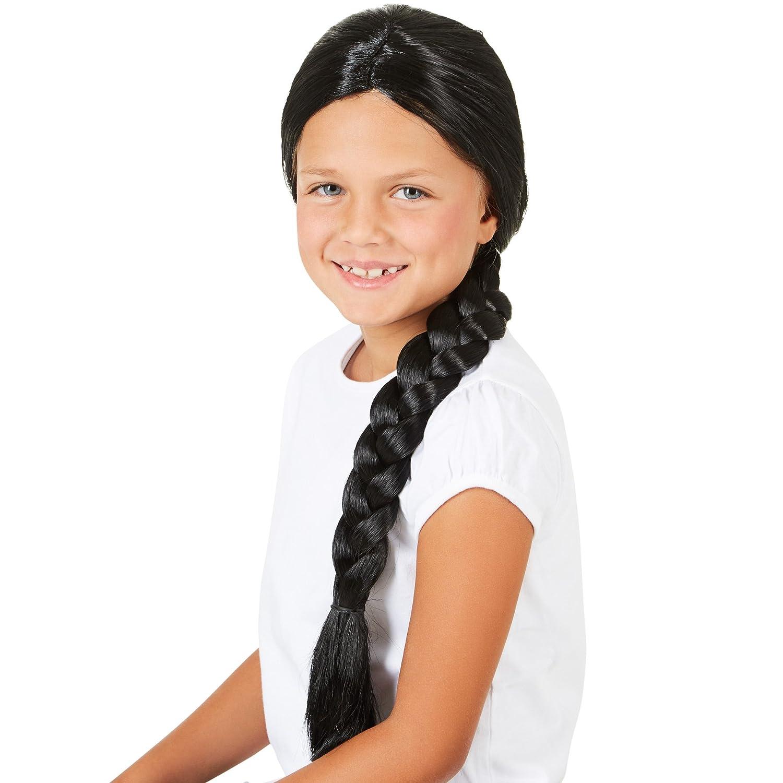 dressforfun Peluca de India con Trenzas larga para Infantil | Combinable con muchos disfraces | Marrón: Amazon.es: Juguetes y juegos