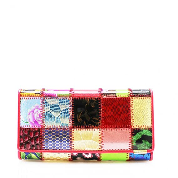 Shiny Women Patent Leather Small Ladies Clutch Purse Boxed Wallet Card Holder