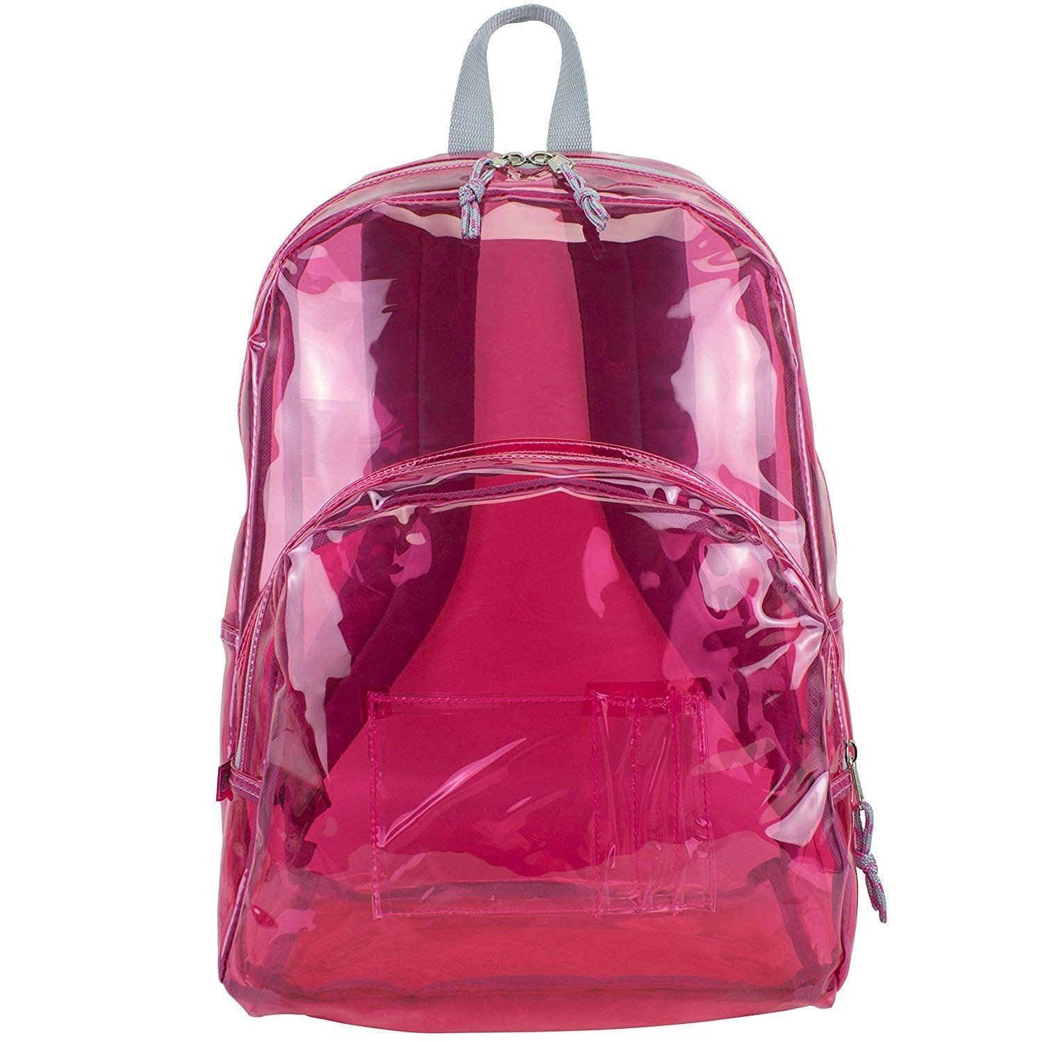 17'' Clear Pink Wholesale Backpack - Case of 24 by Eastsport (Image #1)