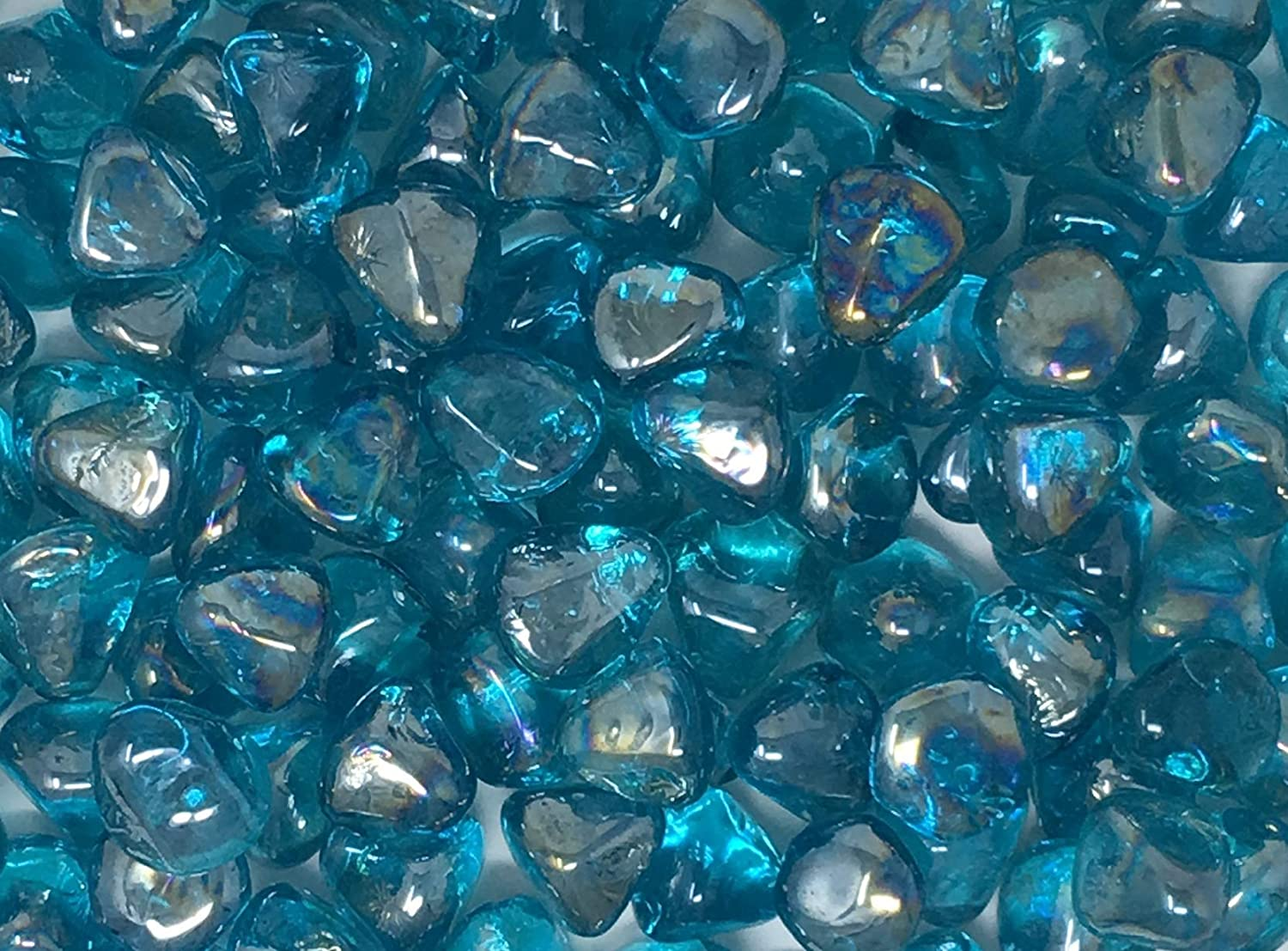 2-14-oz Greenbrier Intl Crafters Square Aquamarine Glass Accent Gems Bags