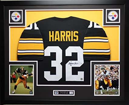 wholesale dealer ccf08 729a5 Franco Harris Autographed Black Steelers Jersey ...