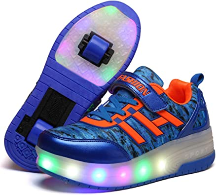 Brand New Heelys Style High Quality Size 3.5 Roller Shoe Skate Orange Color