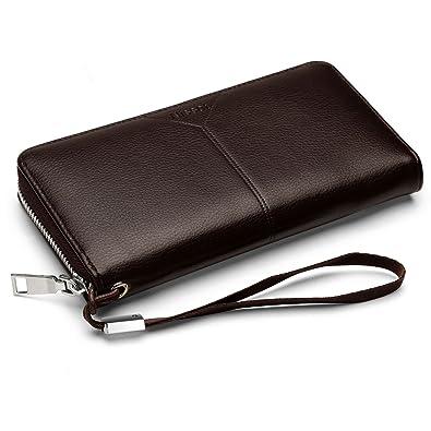 9bcce76be160 長財布 NISSOT メンズ 財布 ビジネス カード入れ 大容量 本革 ブランド 小銭入れ ロング