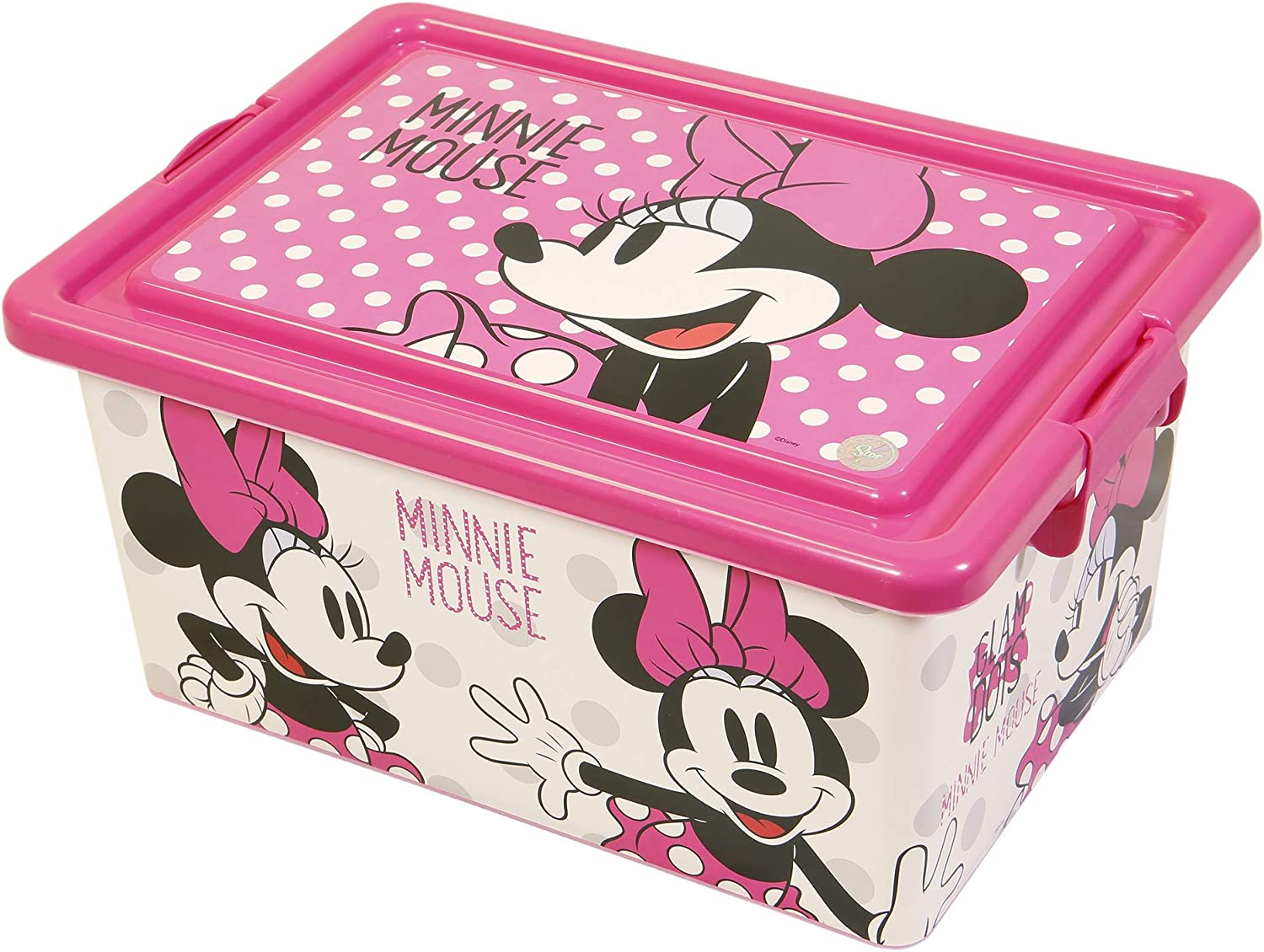 Stor CONTENEDOR 13 L | Minnie Mouse - Disney - Glam Dots: Amazon ...