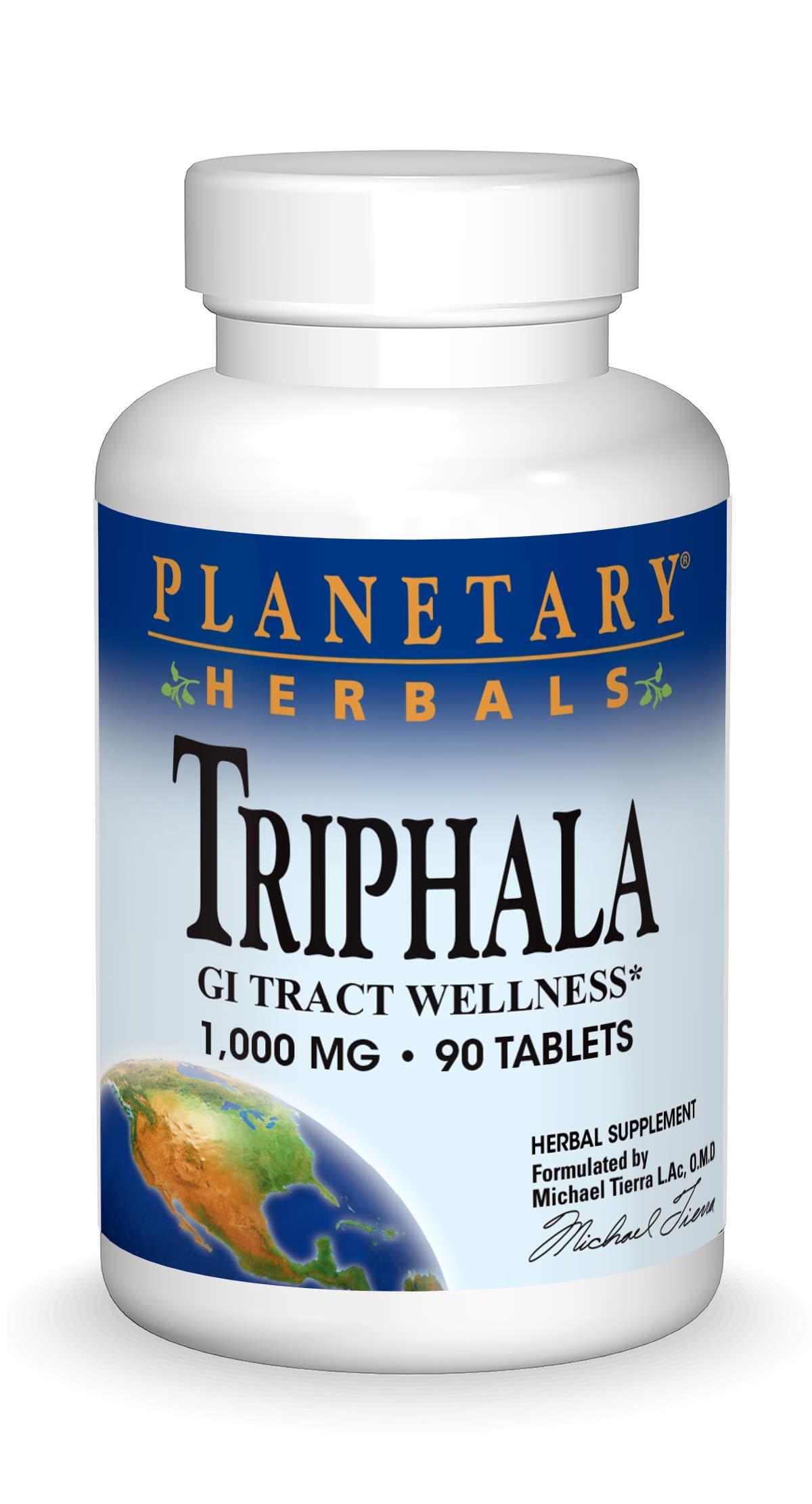 Planetary Herbals Triphala 1000mg - 90 Tablets