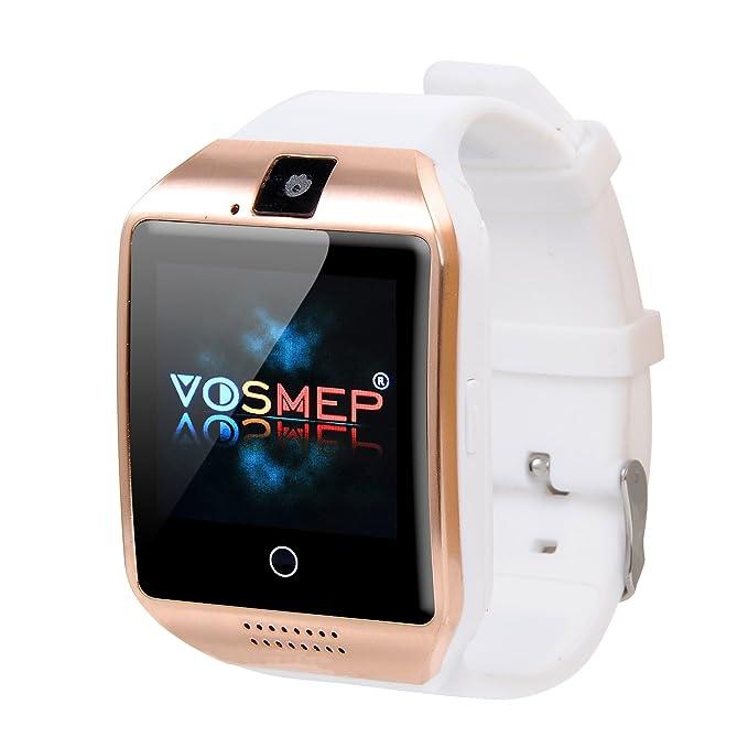 Smartwatch Reloj Inteligente VOSMEP Facebook Whatsapp con Bluetooth 3.0 Built-in 8G Memoria Teléfono Inteligente Amarre Pulsera con Pantalla Táctil ...
