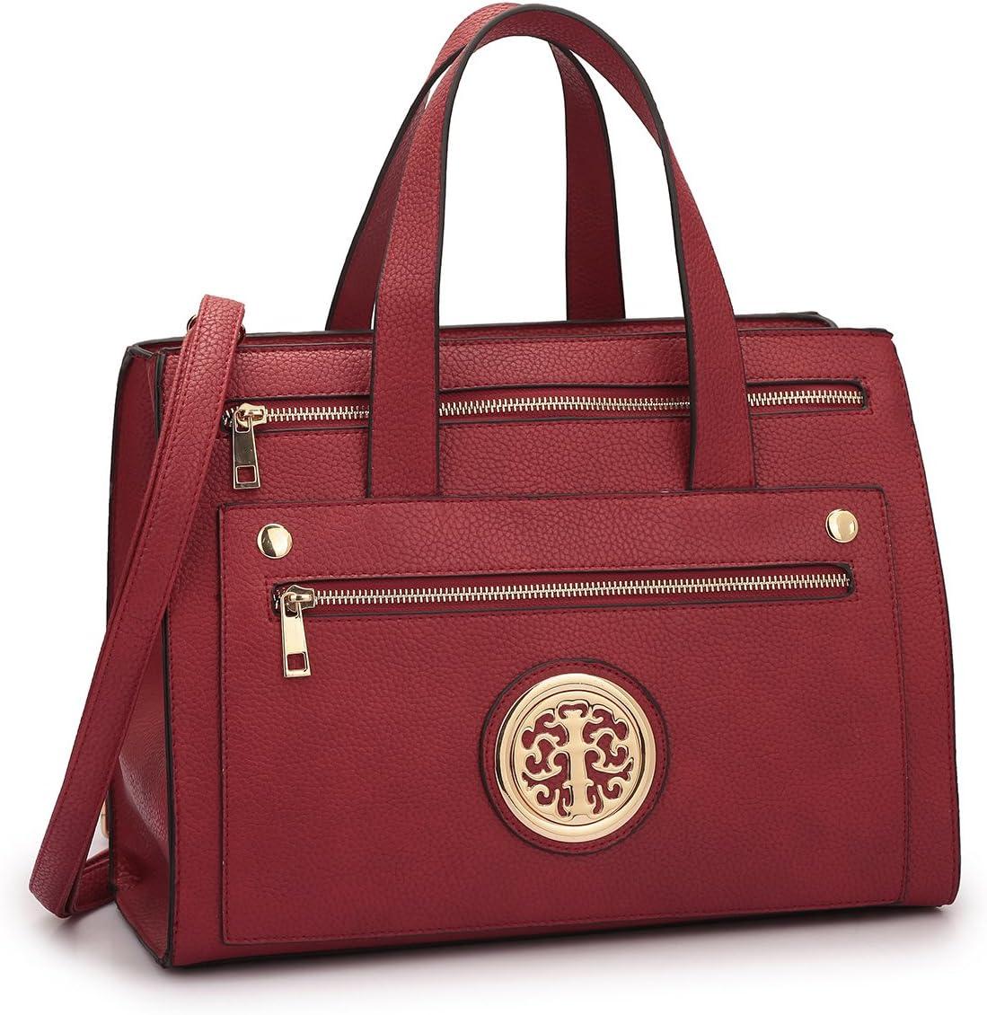 Fashion Women Top Handle Handbags Satchel Purse Hobo Tote Shoulder Bag 7042-RD