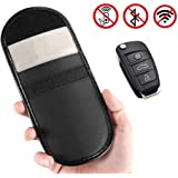 Anti-radiation Bag Cell Phone Signal Blocker Blocking Bag Car Keyless Entry Fob Guard WIFI RF GSM LTE NFC RF Blocker Case Jammer Pouch Shielding Bag Wallet Case Privacy Protection Double Layer (Black)