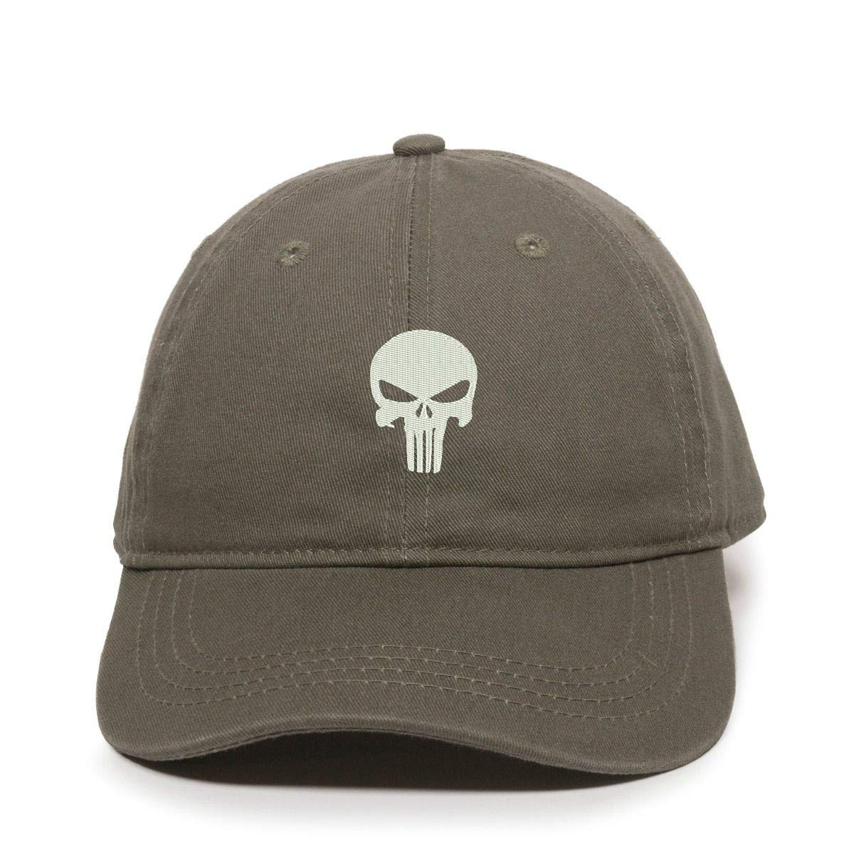 DSGN By DNA Punisher Skull Baseball Cap Embroidered Cotton Adjustable Dad Hat