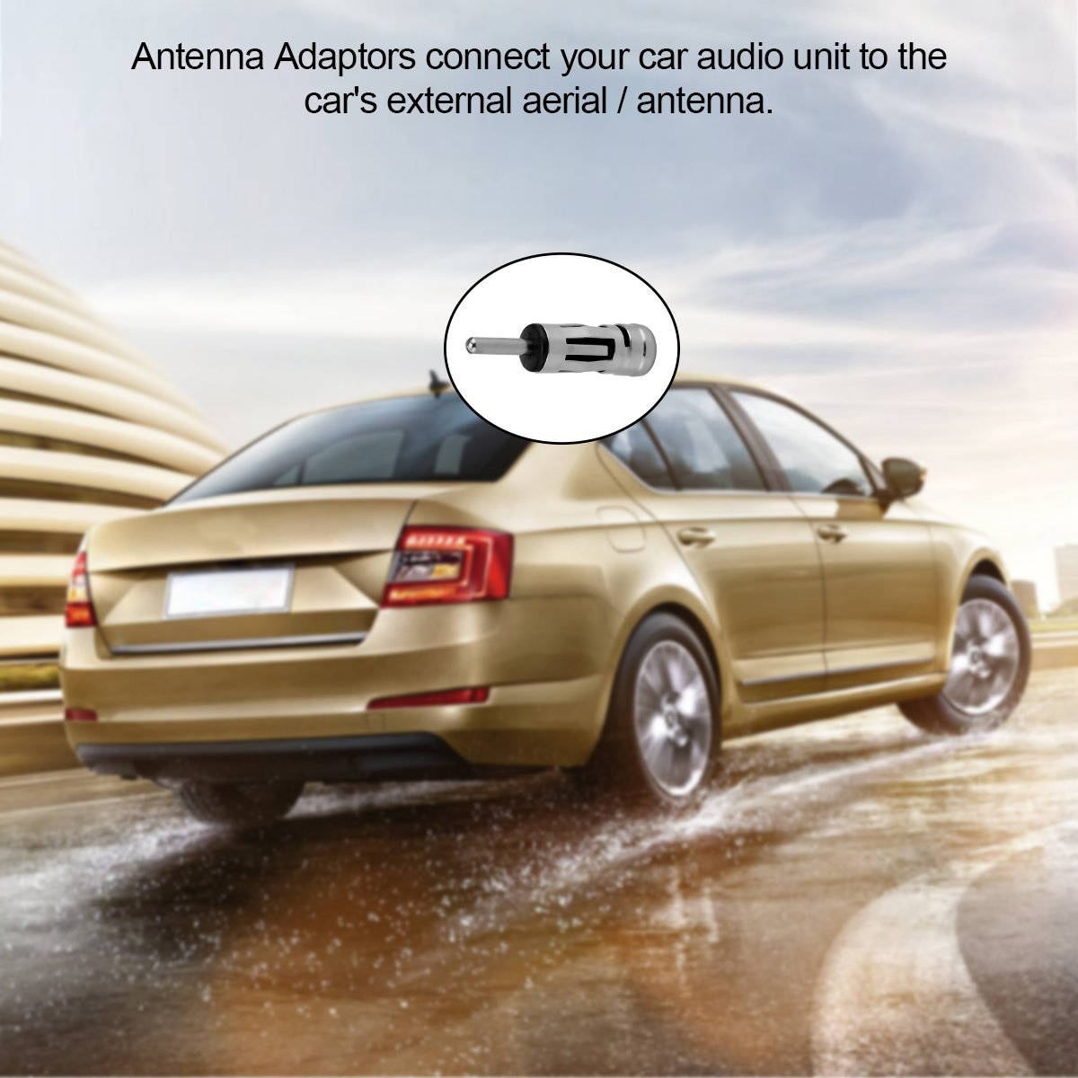 TiooDre Car Radio Stereo Aerial Antenna Adapter Male Universal Plug Connector ISO to DIN Vehicle