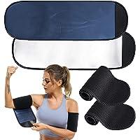POTUANOT 2 paar Sauna Arm Zweetbanden, Arm Trimmers voor Vrouwen, Afslanken Compressie Mouw, Verstelbare Arm Trainer…