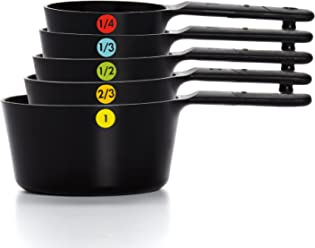 OXO Good Grips Plastic Measuring Cups, 6-Piece, Black
