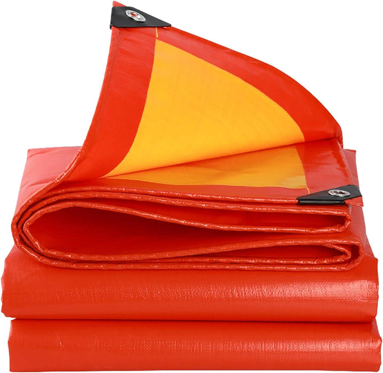 ANUO ターポリンシェードクロス 防水ポリタープ軽量カータープカバーパーゴラキャノピーリップとグロメットアウトドアリバーシブル付きティアプルーフシェードファブリック (Color : Orange, Size : 16.5x26.4ft/5x8m)