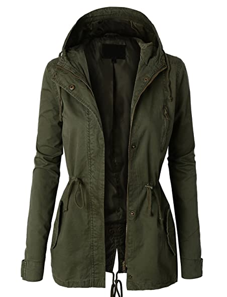 LE3NO Womens Military Anorak Safari Jacket: Amazon.co.uk: Clothing