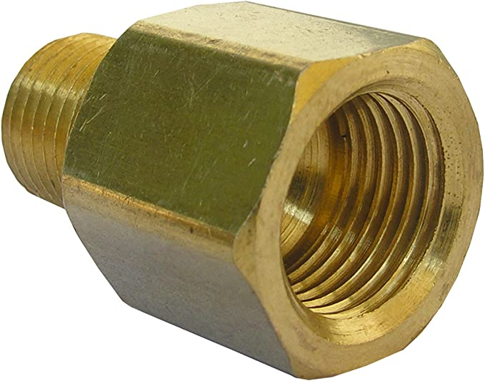 """Gas Hose Connector 1//4/"""" links x 3//8/"""" Right-Double Nipple reduziernippel"""
