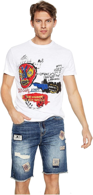 Desigual - Camiseta GALTON Hombre Color: 1000 Talla: Size XL: Amazon.es: Ropa y accesorios