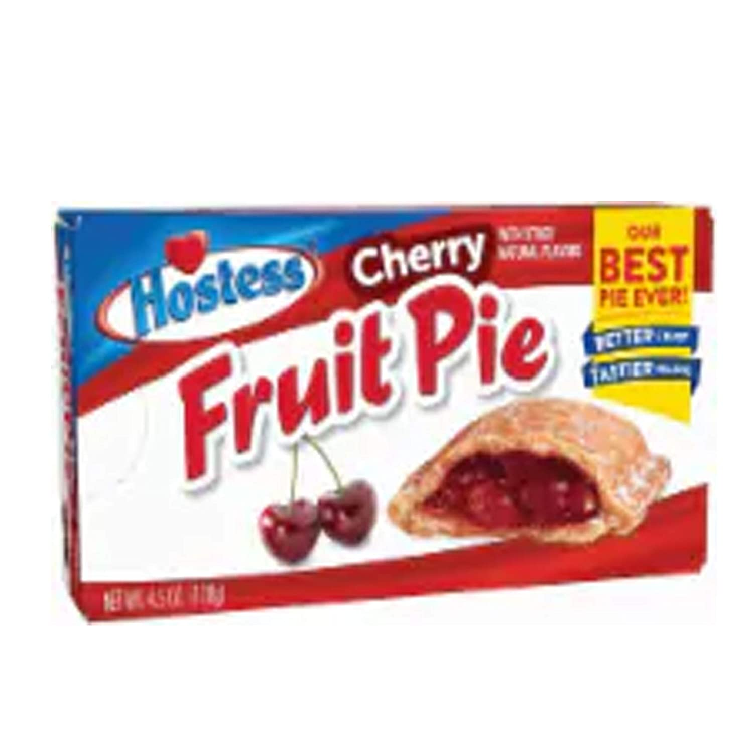 Hostess Fruit Pies Cherry with other natural flavors 4 oz (pack of 8 Pies)
