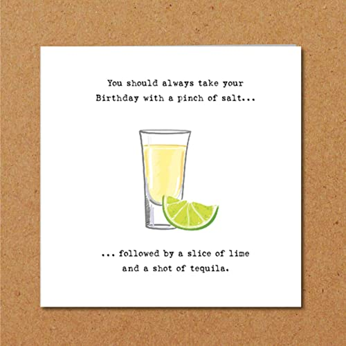 Tequila Birthday Card For Boyfriend Husband Girlfriend Wife Or
