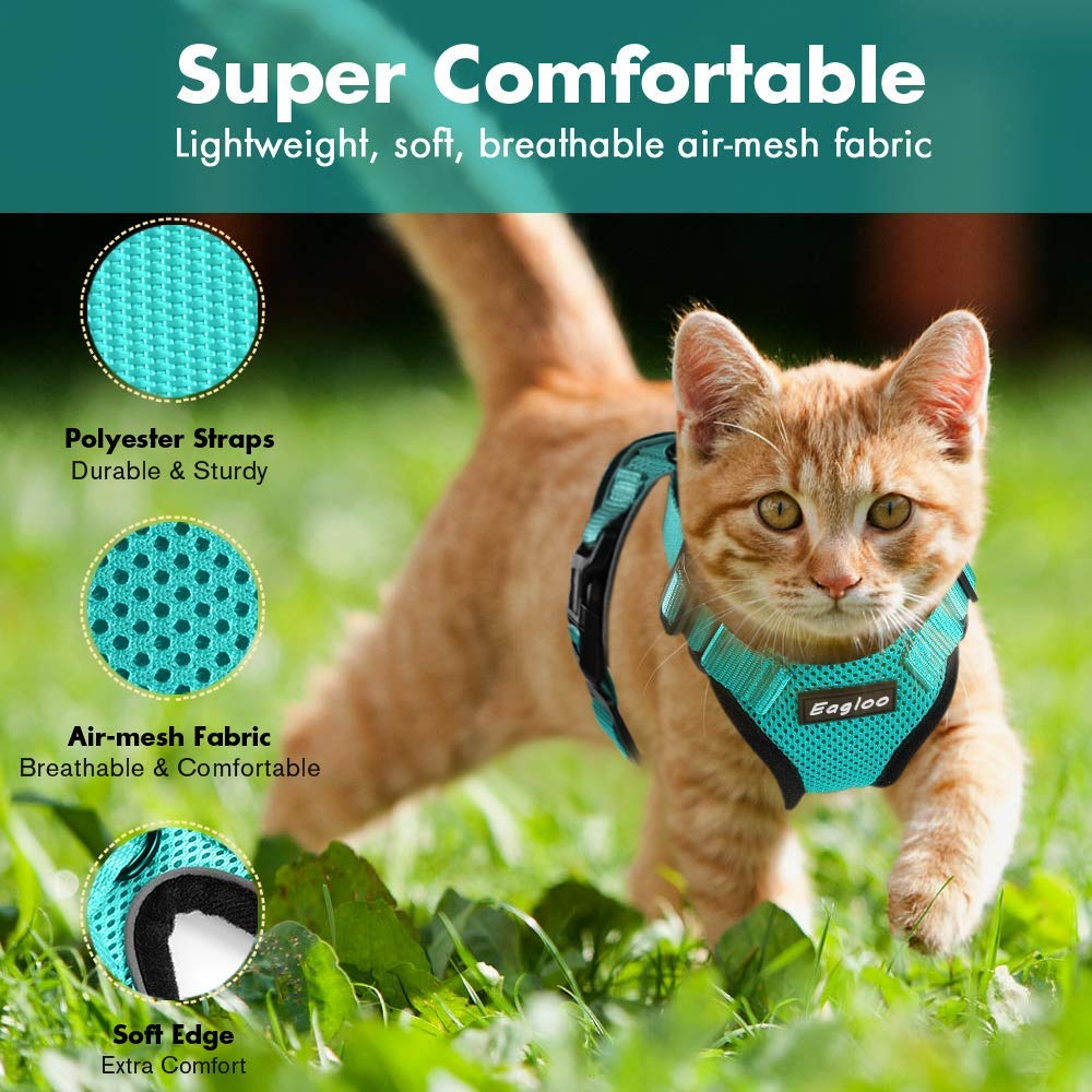 Cat Harness and Leash Set for Walking Lightweight Escape Proof Kitten Vest Harness Soft Fit for Cat Puppy Rabbits Easy Control