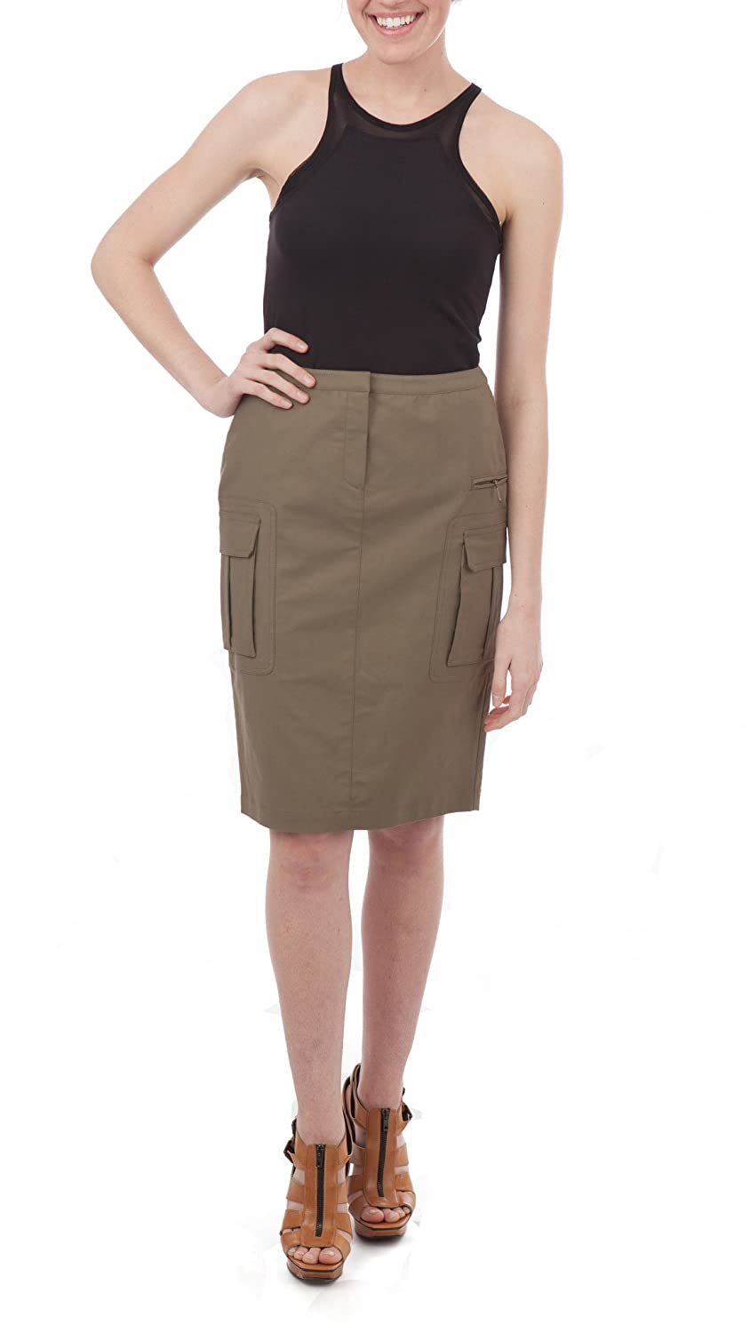 d02f40525 Lafayette 148 New York Cargo Pencil Skirt, Olive Green, 0 at Amazon Women's  Clothing store: