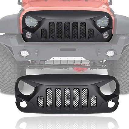 Matte Black Gladiator Vader Front Grille Accessories for Jeep Wrangler 2007-2017 Rubicon Sahara Sport JK JKU