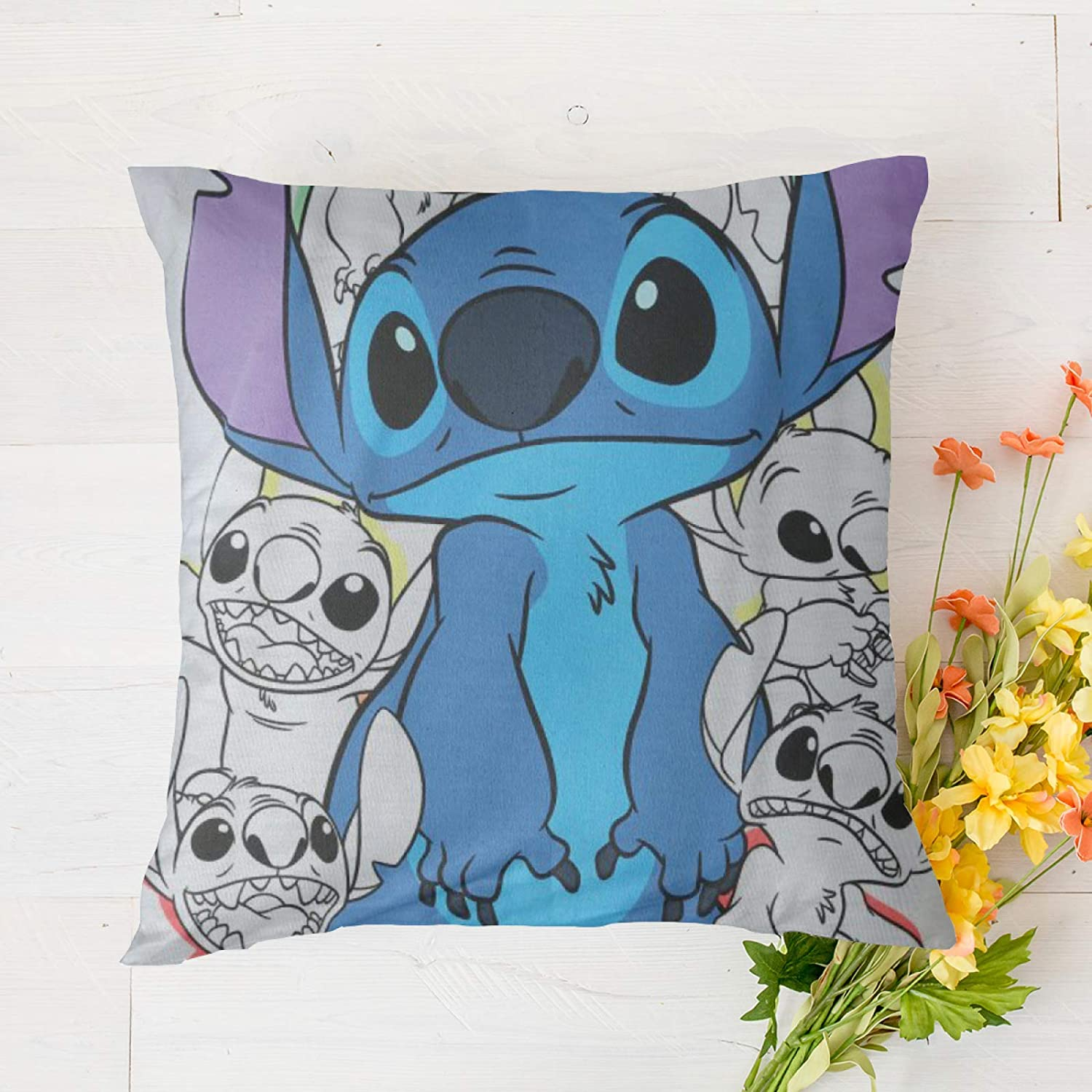 """Suguroo Stitch Pillowcase Allergen Proof Bedding 18""""x18"""" for Living Room Bedroom"""