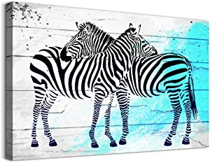 Canvas Wall Art for bathroom Modern family bedroom Wall Decor Animal Zebra paintings Office Canvas art Prints Artwork Black and white abstract Pictures Stretched Ready to Hang for Home Decorations