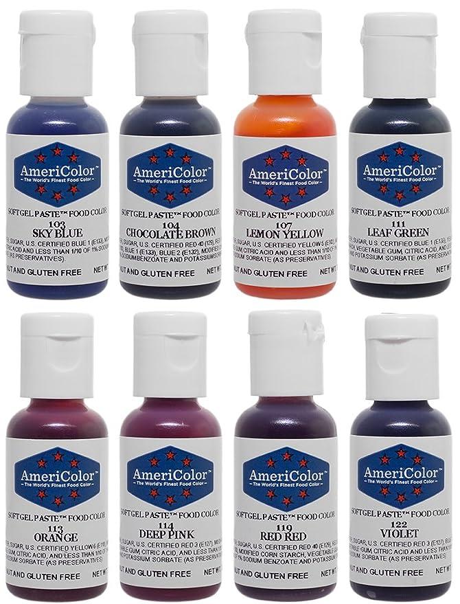 Amazon.com: Food Coloring AmeriColor Soft - Gel Paste Junior Kit, 8 ...