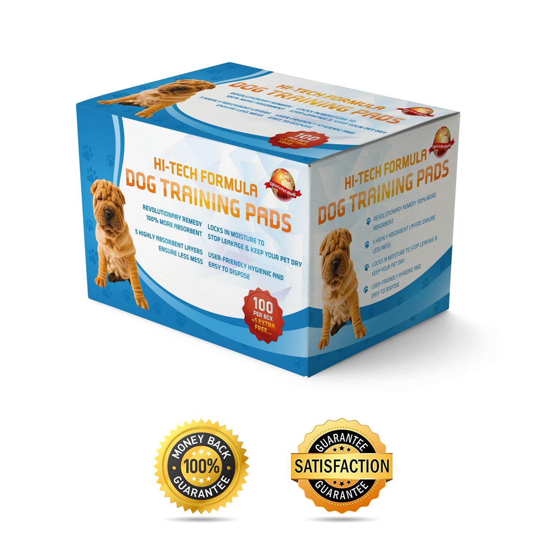 100 Empapadores Para Entrenar A Cachorros + 5 Extra GRATIS | 60 cm x 60 cm