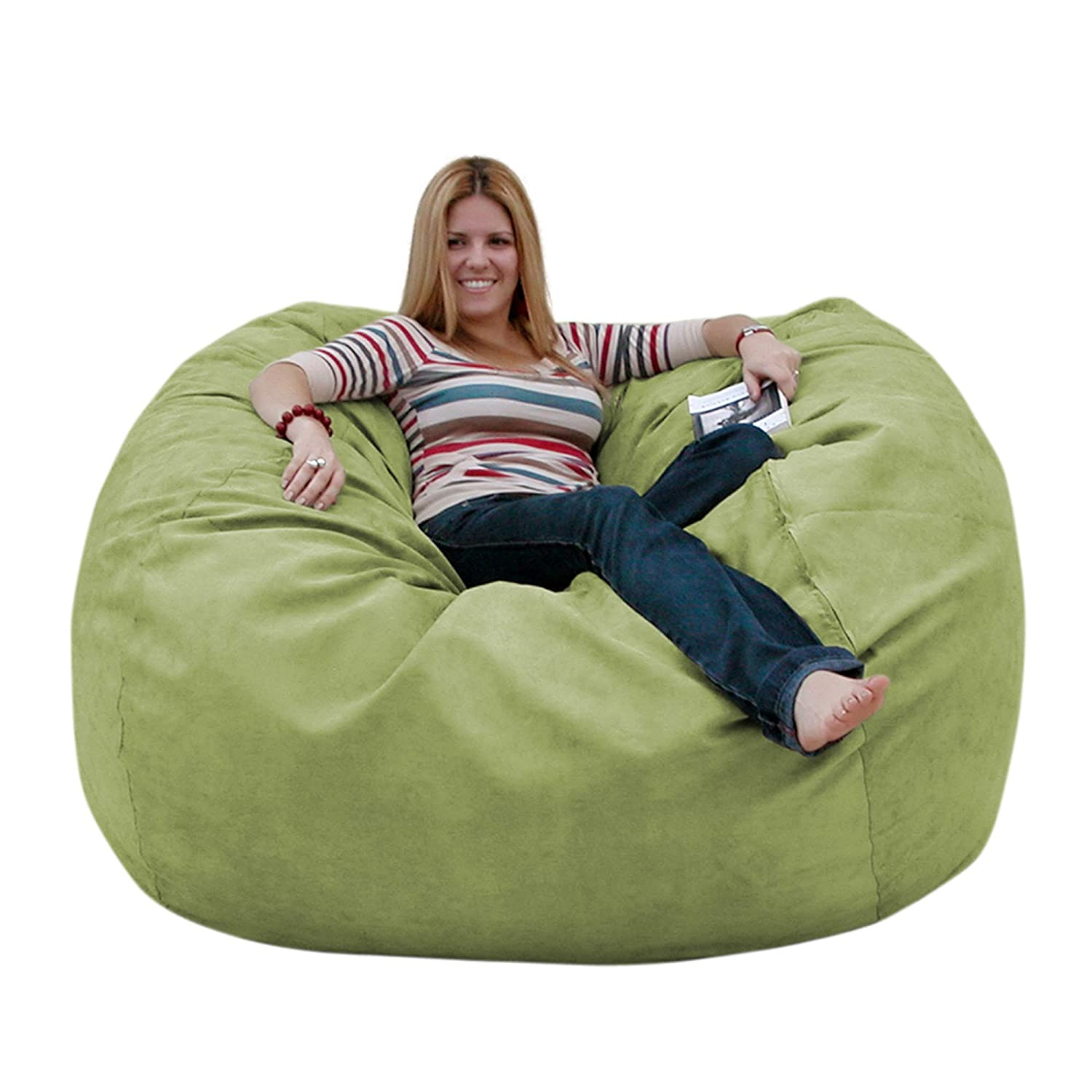 Amazon Com Cozy Sack 5 Feet Bean Bag Chair Large Lime Kitchen Dining