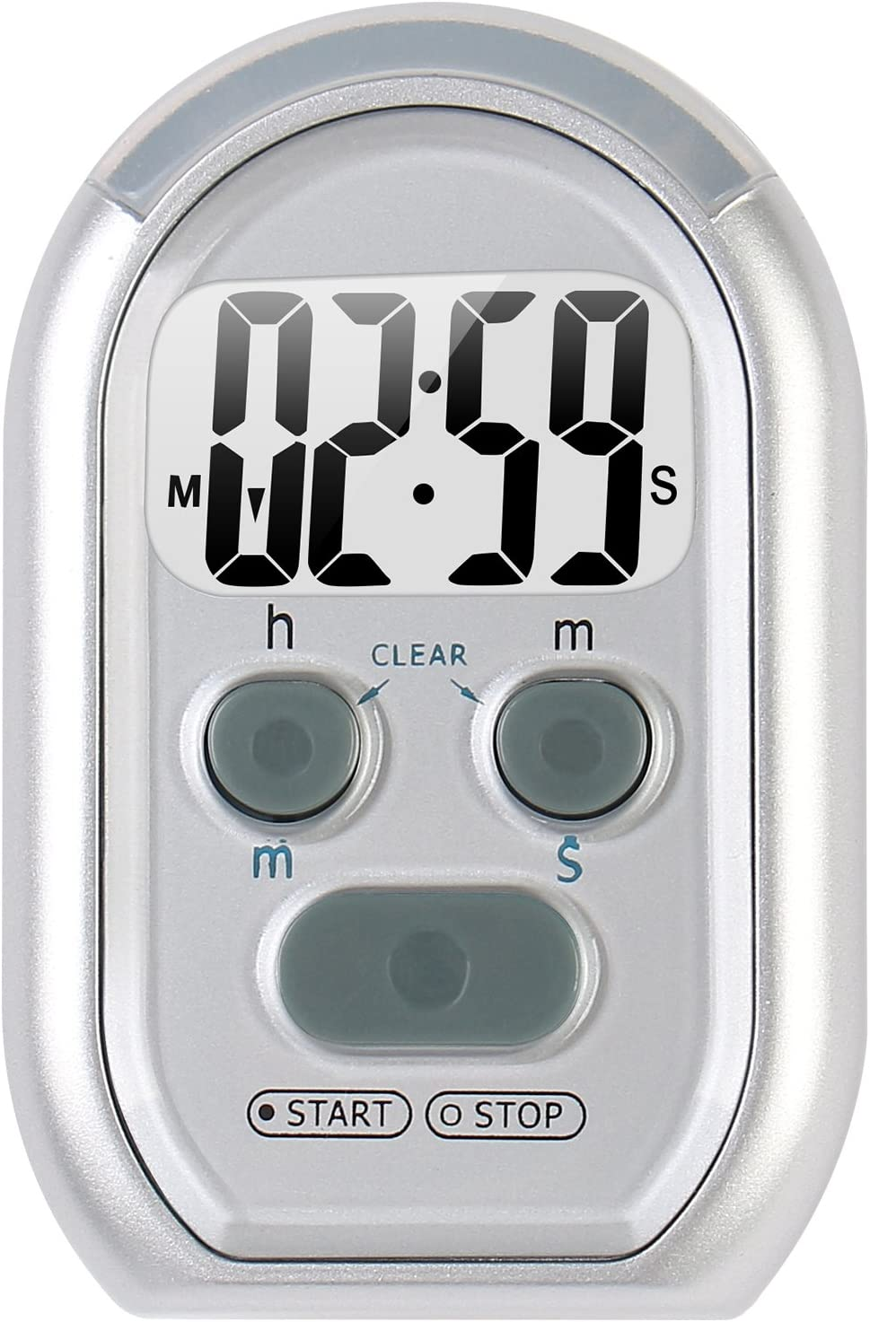 ZYQY x-wlang 3-in-1 Alerts timer 1013 with vibration ,beep and flash.(kitchen timer ,medical timer,therapeutic timer), silver