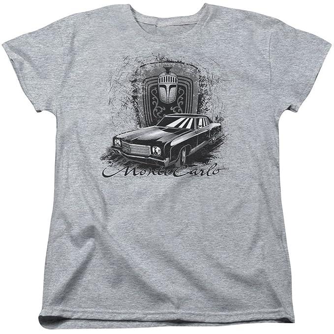 Chevrolet Carlo de lujo womanschevymonte en las ruedas camiseta de las señoras para mujer: Amazon.es: Ropa y accesorios