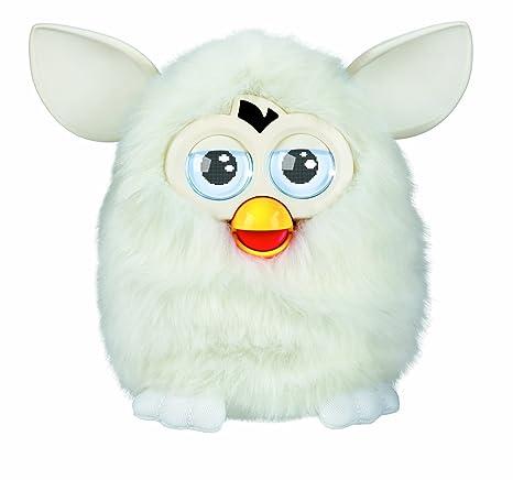 Furby - Mascota electrónica (habla español), color blanco (Hasbro A39833500)
