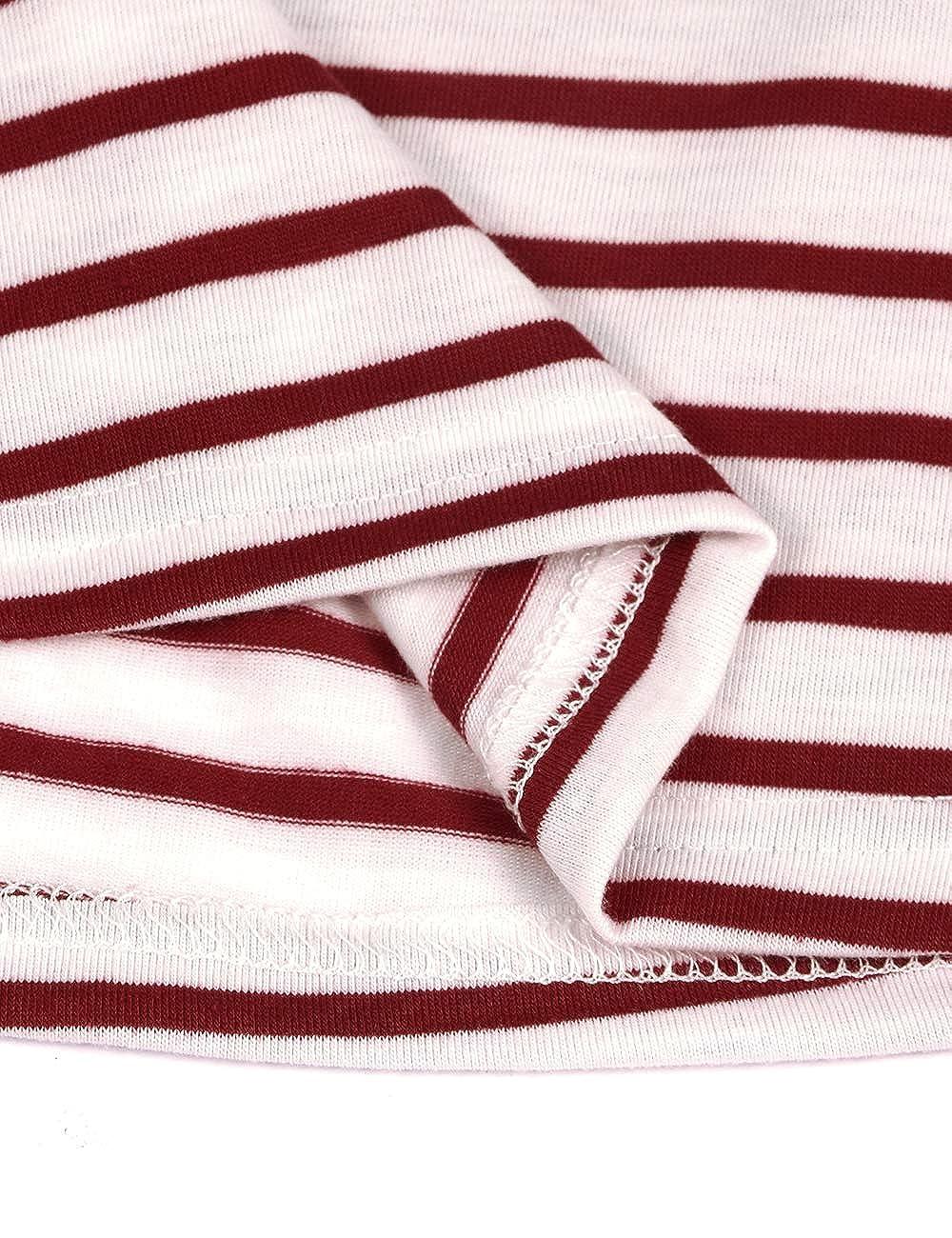 Larenba Womens Maternity Nursing Tank Tops Stripe Pull-up Loose Comfy Breastfeeding Shirt