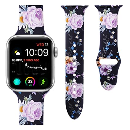 VODKE Sport Band Compatible with Apple Watch, Soft Silicone Strap Replacement Bands Wristbands Compatible with iwatch Sport Series 4, 3, 2, 1 S/MM/L ...