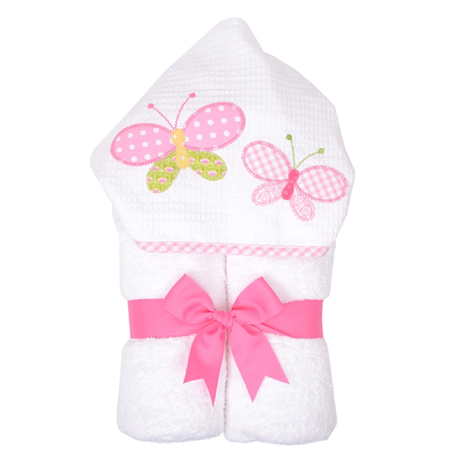 3 Marthas Boutique Everykid Hooded Towel (Pink - Butterfly Kisses) by 3Marthas