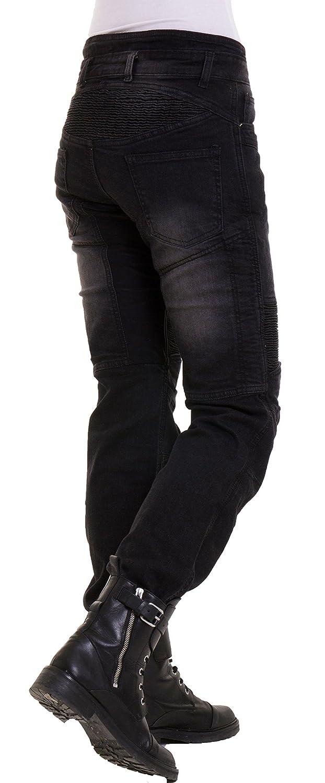 Qaswa Damen Motorradhose Jeans Motorrad Hose Motorradr/üstung Schutzauskleidung Motorcycle Biker Pants