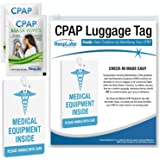 RespLabs CPAP Medical Device Luggage Tag - CPAP, BiPAP and Pap Travel Supplies