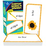 Carson Dellosa Everyday Words in Spanish Flash Cards—Ages 5+ Colors, Animals, People, Common Phrases, Household Items, Spanis
