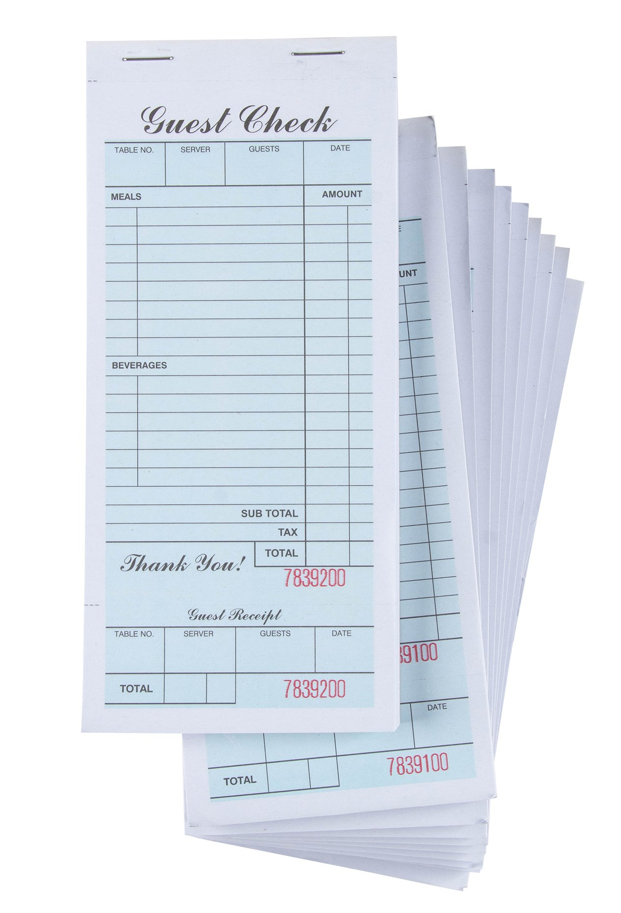 Guest Checks - 10-Pack Waiter Pads, Perfect for Bars, Cafés and Restaurant Orders - Waitress Accessories, 3.5 x 7.5 Inches