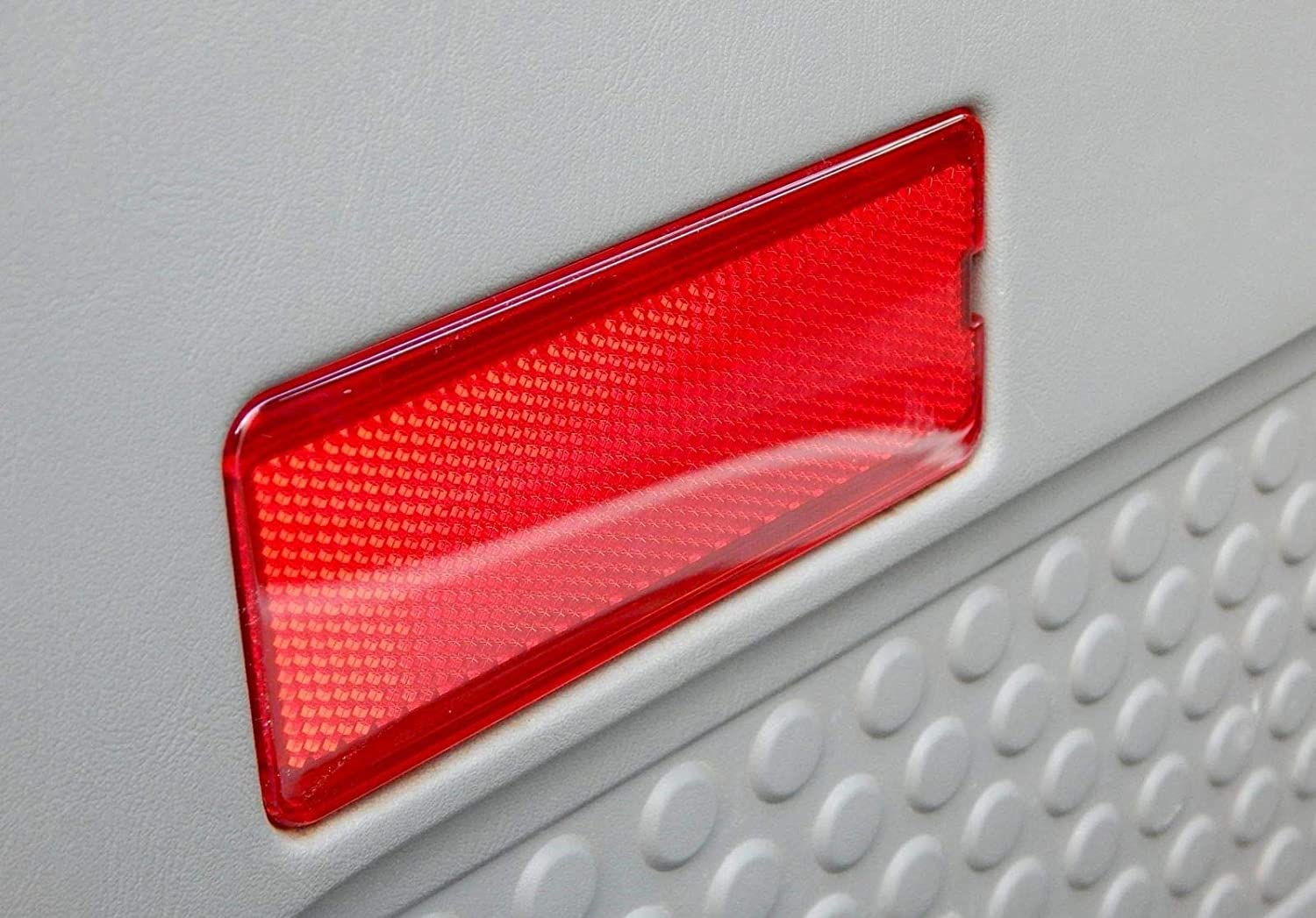 One or Pair One Piece ECOTRIC Red Premium Interior Front Rear Door Reflectors for Ford 1999-2007 SuperDuty F250 F350 F450 F550 /& 2000-2005 Excursion