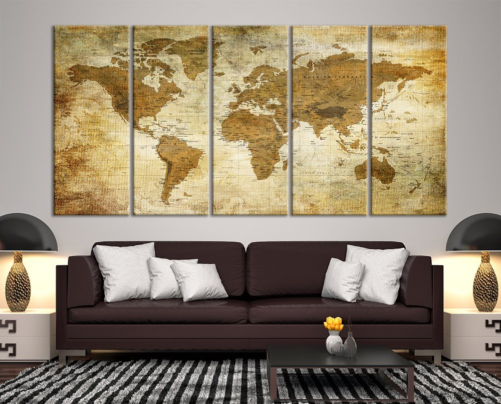 Unique Grunge Wall Decor Composition - Wall Art Collections ...