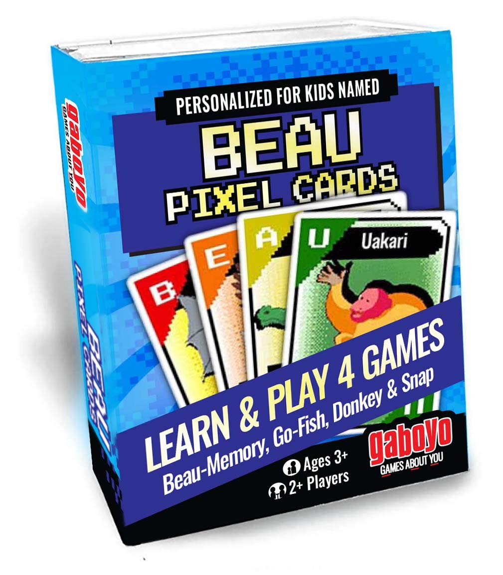 Amazoncom Cards For Kids Named Beau Pixel Animal Art