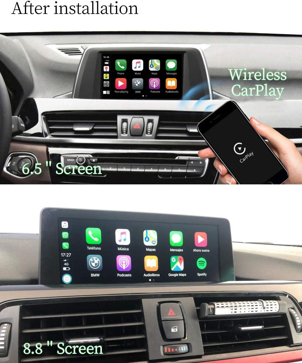 Binize Wireless Carplay//Android Auto USB Dongle Mirroring SIRI Voice Control//Google Maps//Waze Wireless White