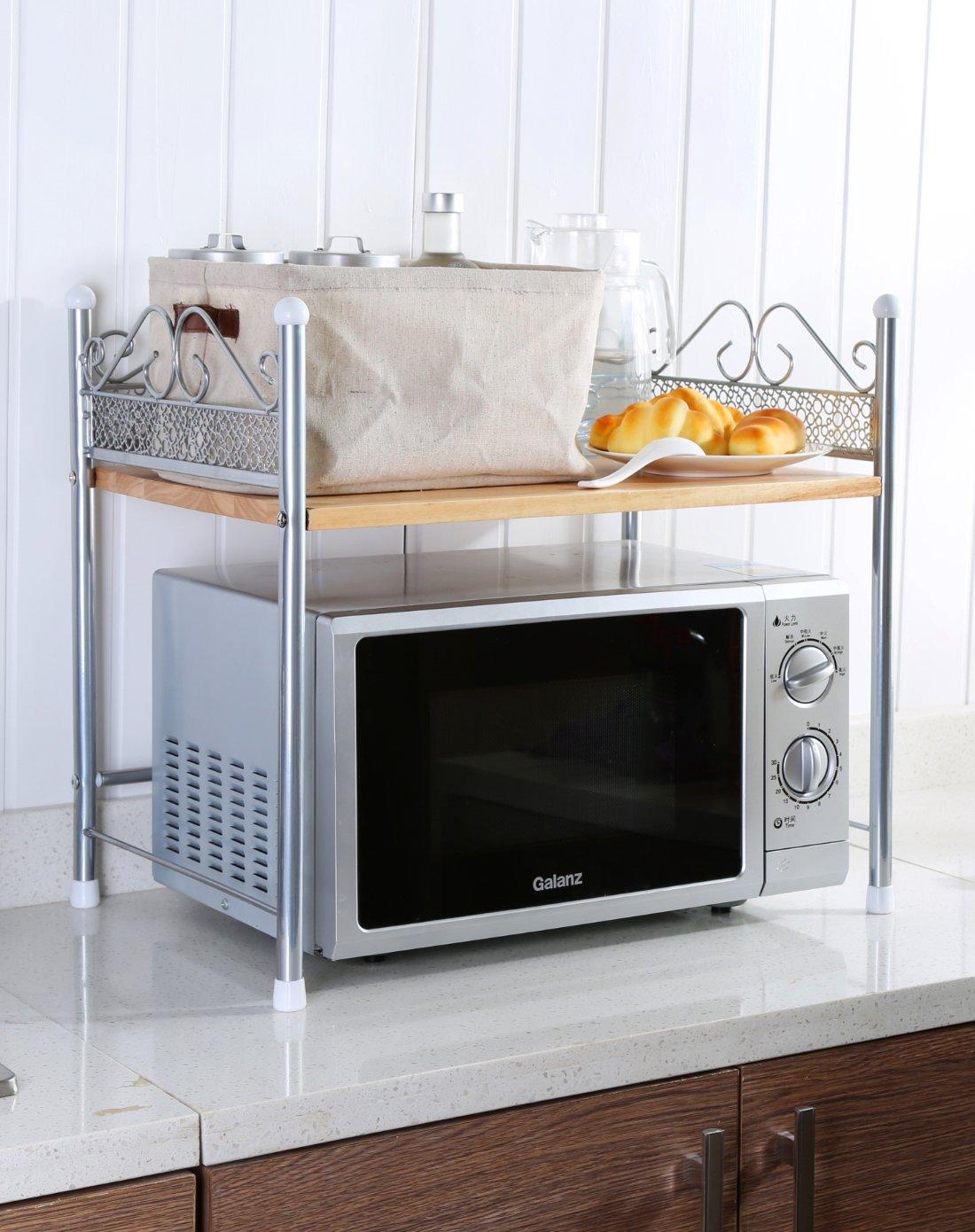 ikazs 1-rack moderno de color blanco horno microondas cocina rack ...