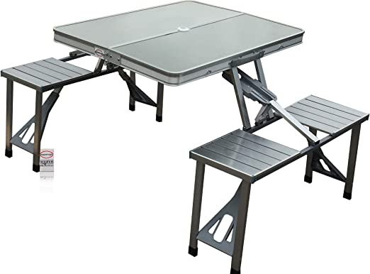 Tavolo A Valigetta Campeggio E Outdoor.Fasherati Outdoor Alluminio Portatile Pieghevole Campeggio Picnic