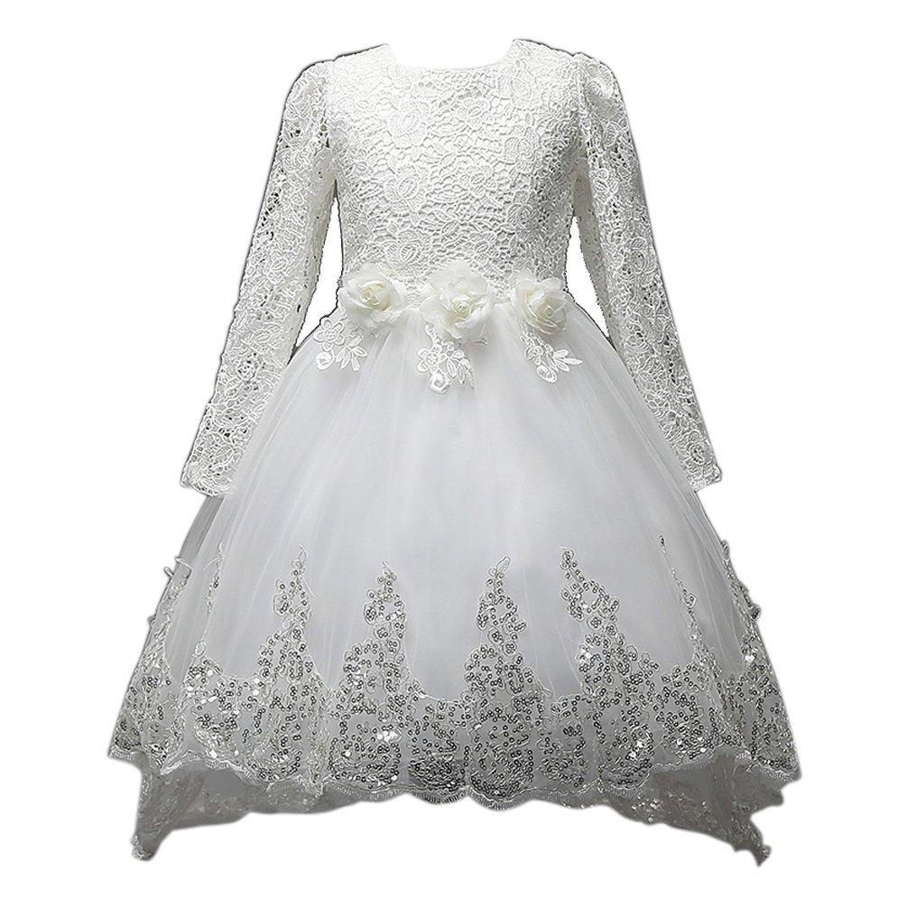 ARAUS Abiti Da Sera Bambina Vestiti A Pizzo Principessa Per Feste Madrimonio 3-12 Anni 0710P10