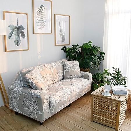 Hotniu Cepillado Fundas De Sofá Impreso Reversible Funda Para Sofá 1 Pieza Elástica Sofá Pantalla Para Muebles(1 Plazas para 90-140cm,Patrón #5)
