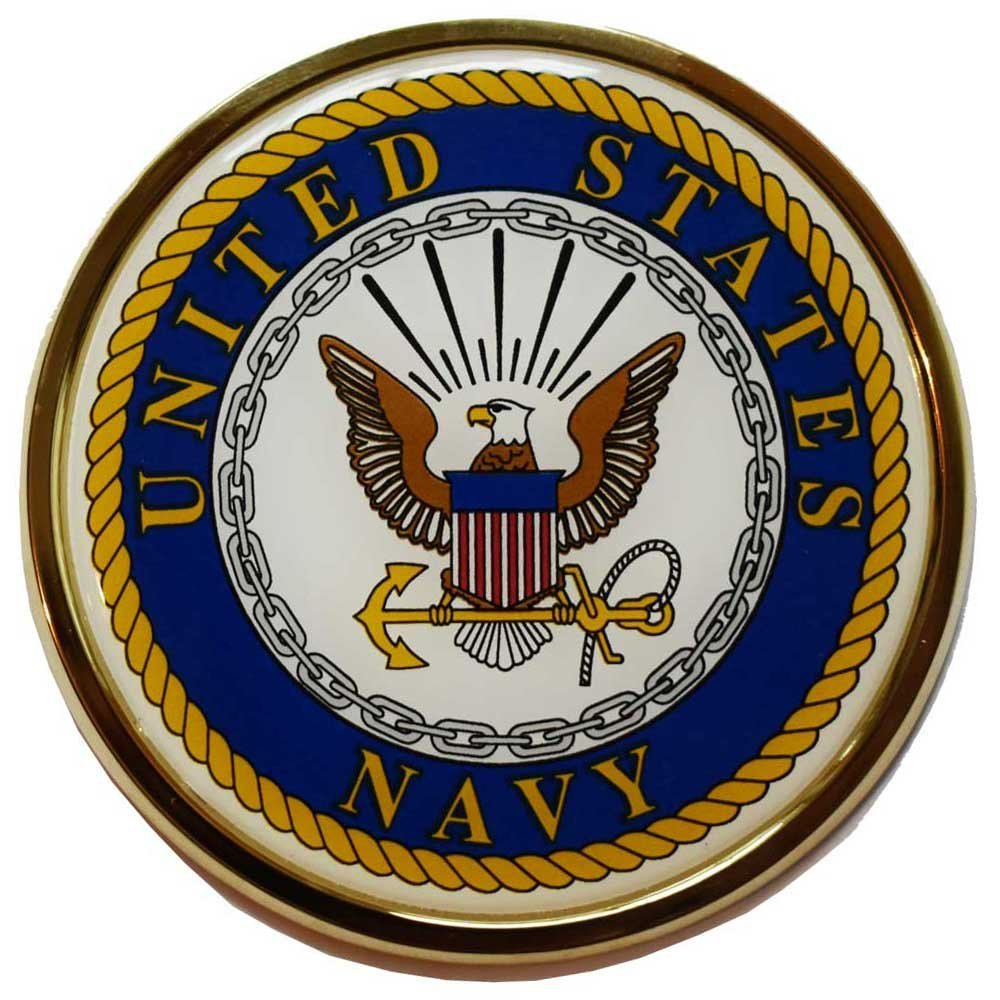 U.S. Navy Crest Chrome Auto Emblem Mitchell Proffitt AC-05